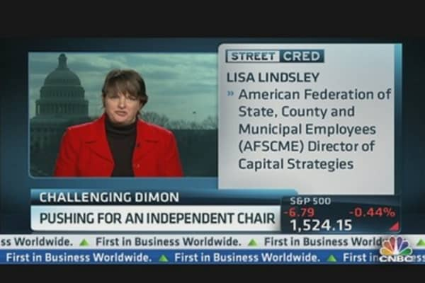 Investors Challenge JPMorgan