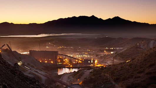 A Freeport- McMoran Copper and Gold Inc. mine.