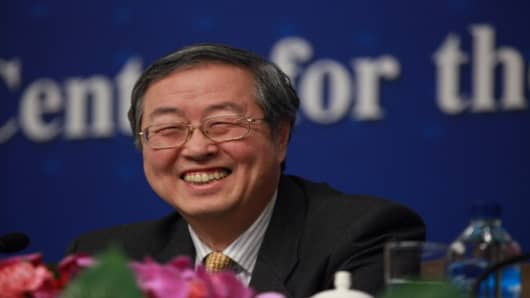 Zhou Xiaochuan, governor of the People's Bank of China