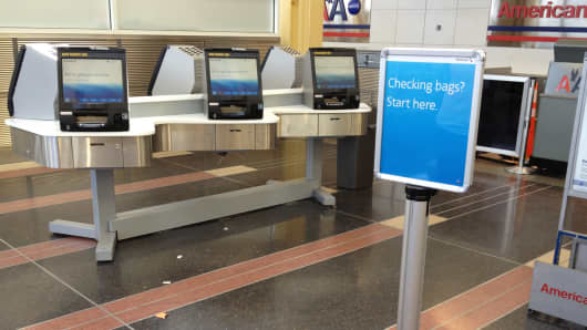 Self-Service Checked Bag Machines at Washington Reagan National Airport