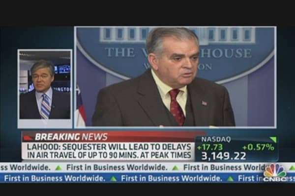 LaHood: Sequester Will Lead to Delays in Air Travel