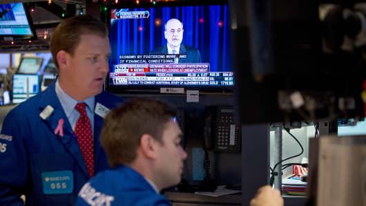 NYSE traders Ben Bernanke