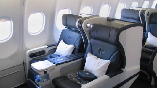 "Virgin Australia ""Lie-Flat Business Class Seats"""