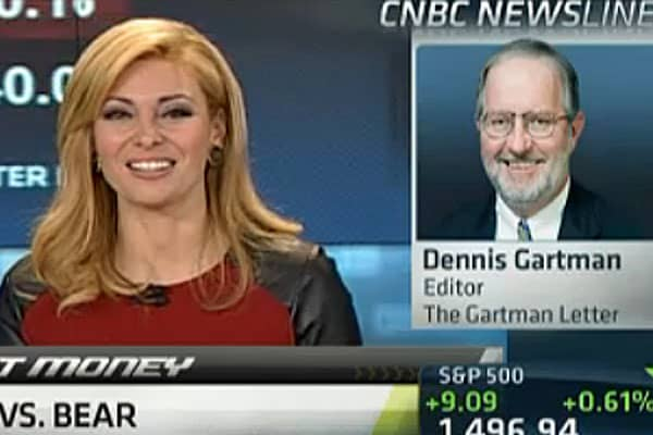 What'll Bring Me Back to Stocks: Gartman