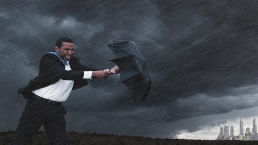 Businessman storm