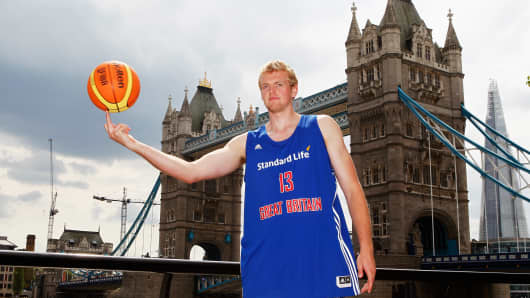 Dan Clark of the Standard Life Great Britain Basketball team.