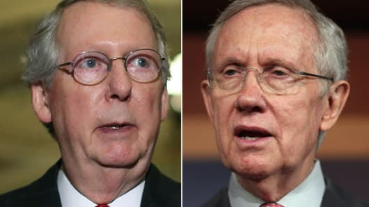 Sens. Mitch McConnell and Harry Reid