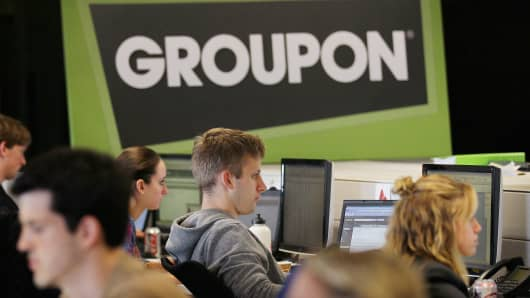 Workers at Groupon