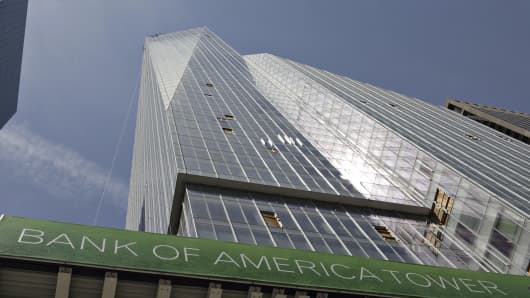 The Bank of America Tower stands in New York, U.S.