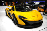 A McLaren P1 automobile, produced by McLaren Automotive Ltd., is seen on the company's stand ahead of the opening day of the 83rd Geneva International Motor Show in Geneva, Switzerland, on Monday, March 4, 2013.