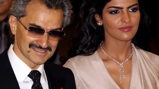 Prince Alwaleed Bin Talal Bin Abdulaziz Alsaud and wife Princess Amira
