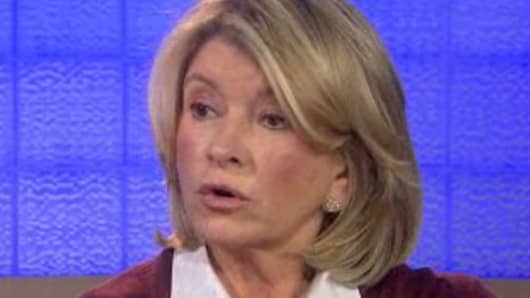 Martha Stewart speaking with Matt Lauer
