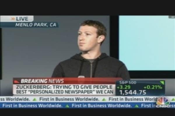 Zuckerberg on Creating 'Personalized Newspaper'