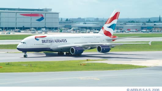British Airways new Airbus A380 aircraft.