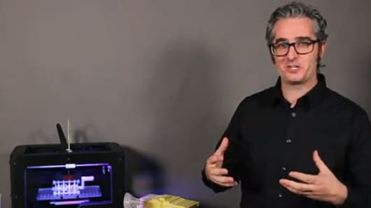 MakerBot founder Bre Pettis unveiled its latest, desktop 3-D printer at Austin's SXSW Interactive.