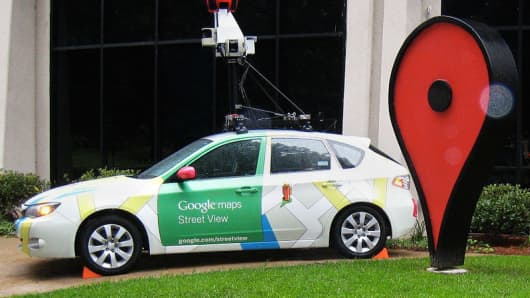 Google street view can on the Google Campus