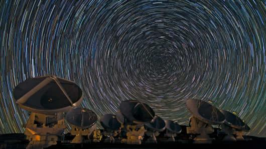 ALMA telescope located in the Chilean Andes.