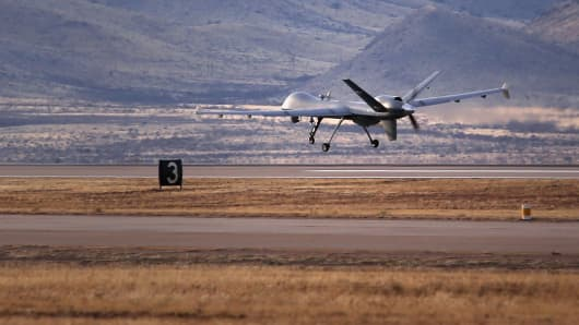 A Predator drone operated by U.S. Office of Air and Marine
