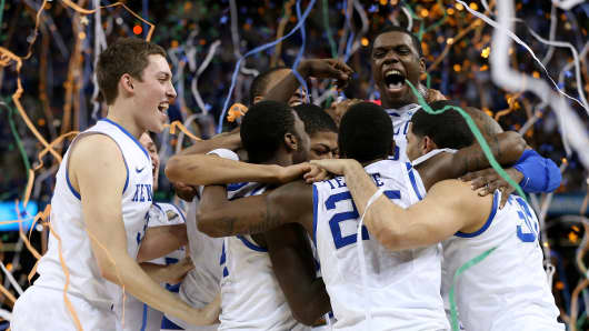 Kentucky Wildcats win NCAA Championship 2012