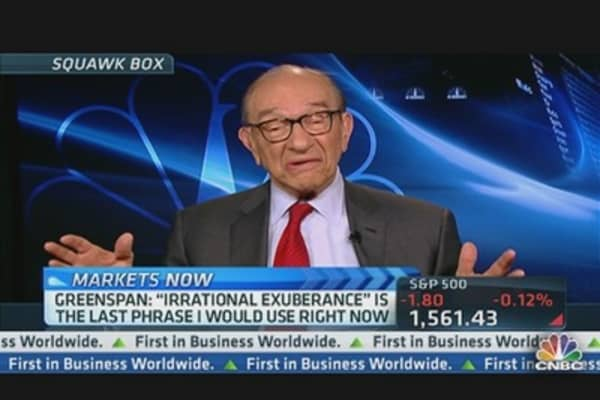 Greenspan: 'Irrational Exuberance' Last Phrase I Would Use Right Now
