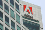 Adobe Systems Inc. signage is displayed outside of the company&#039;s office in San Francisco, California, U.S.