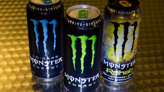 Monster energy drinks.