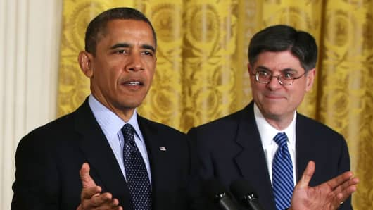 President Barack Obama and White House Chief of Staff Jack Lew.