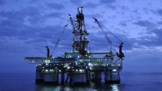 off shore oil and gas drilling rig exploration