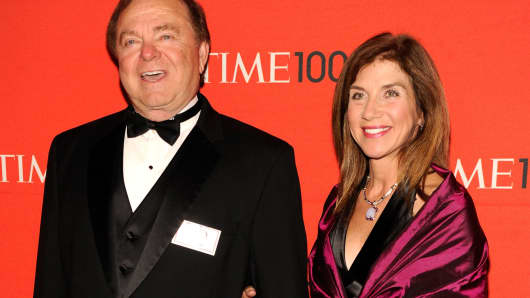 Harold Hamm and his wife Sue Ann Hamm, in April, 2012