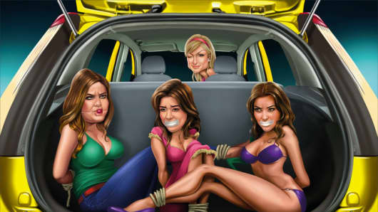 Ford Figo ad depicting Paris Hilton and the Kardashians