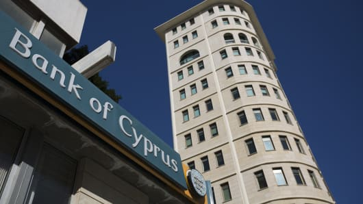 A Bank of Cyprus branch in Nicosia, Cyprus