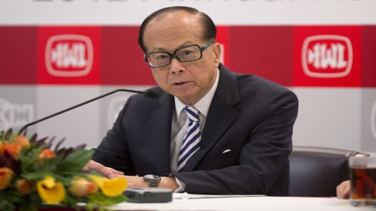 Li Ka-shing, chairman of Cheung Kong (Holdings) Ltd. and Hutchison Whampoa