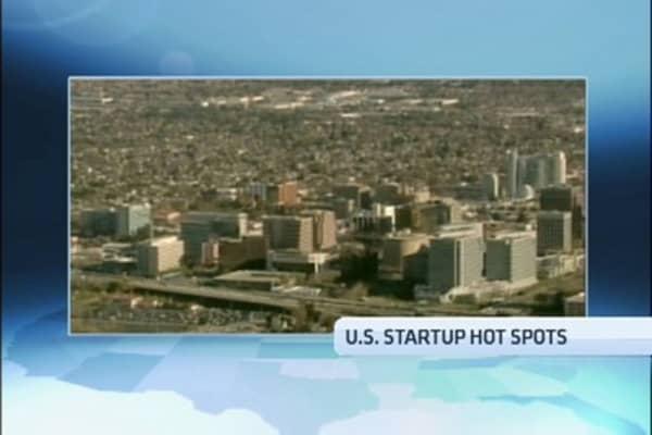 Surprising Startup Hot Spots