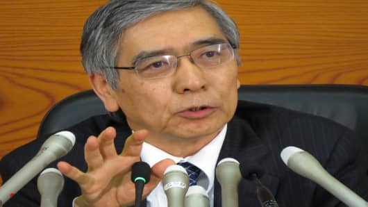 Bank of Japan's new governor Haruhiko Kuroda