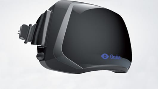 The Oculus Rift headset