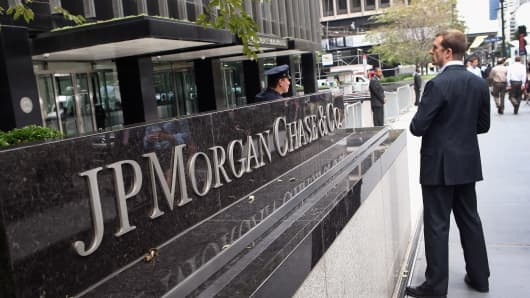 JP Morgan headquarters on Park Avenue in New York.