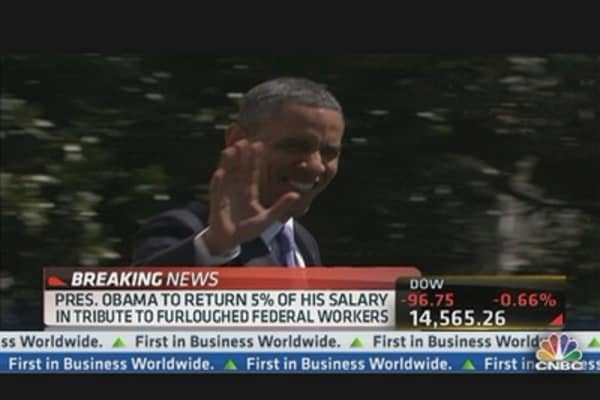 Obama Taking 5% Salary Cut