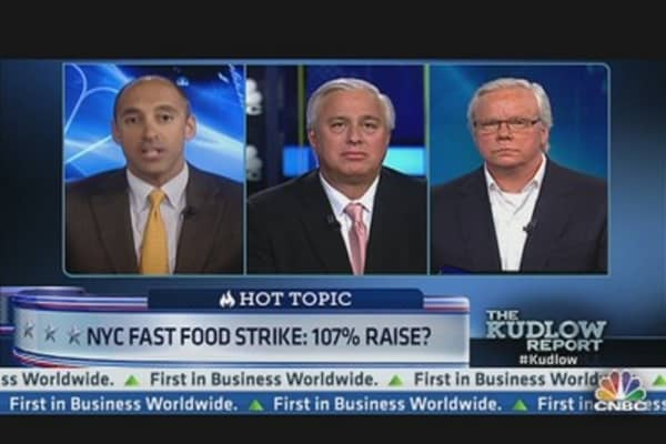 NYC Fast Food Strike: 107% Raise?