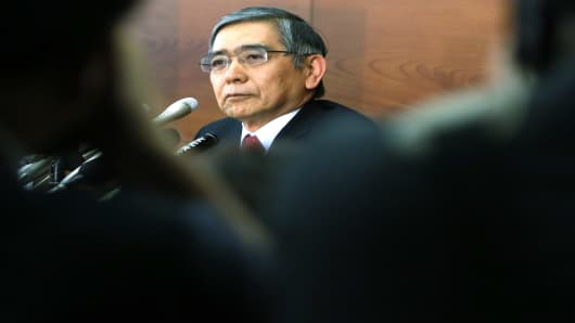 Haruhiko Kuroda, governor of the Bank of Japan