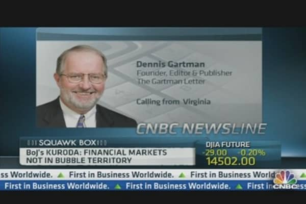 BoJ's Policy Won't Stimulate the Economy: Gartman