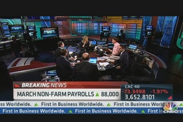 March Non-Farm Payrolls Up 88,000