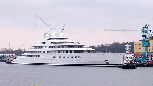 Azzam, thought to be the world's largest yacht.