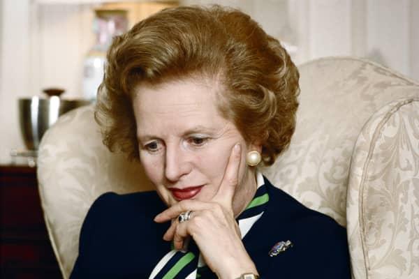Former Prime Minister Margaret Thatcher in 1987.
