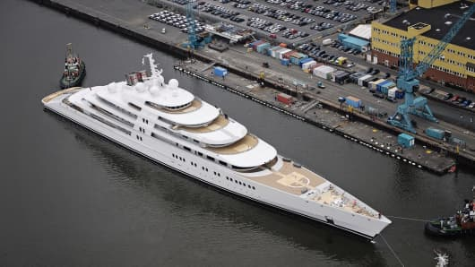 Azzam, thought to be the world's largest yacht, launched.