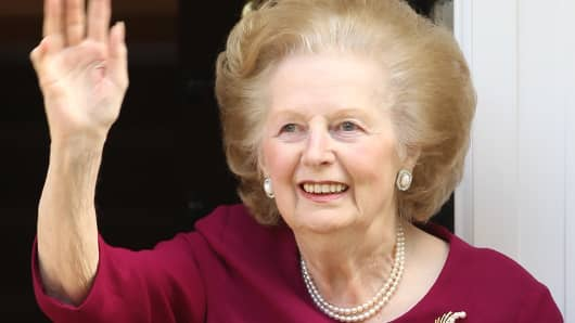 Former British Prime Minister Margaret Thatcher in 2010