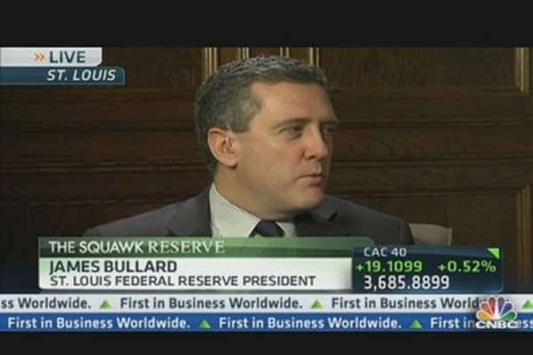 Fed's Bullard: Forecasts Unemployment Down Near 7% by End of 2013
