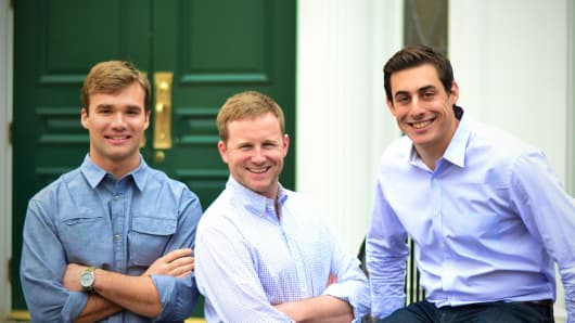 Hourly Nerd co-founders, left to right, Peter Maglathlin, Patrick Petitti and Rob Biederman.