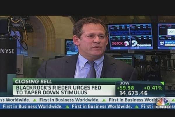 Rieder Urges Fed to Taper Stimulus
