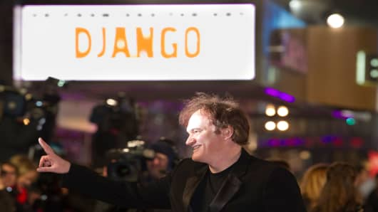 Quentin Tarantino attends the UK Premiere of 'Django Unchained' at Empire Leicester Square on January 10, 2013 in London, England.