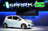 The new 2014 Chevy Spark EV electric vehicle